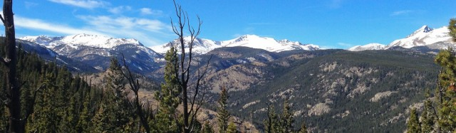 Continental Divide: Devil's Thumb and Jasper Mountain (click to enlarge)