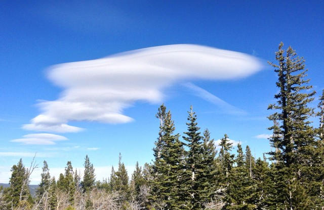 Alien spaceship wave clouds