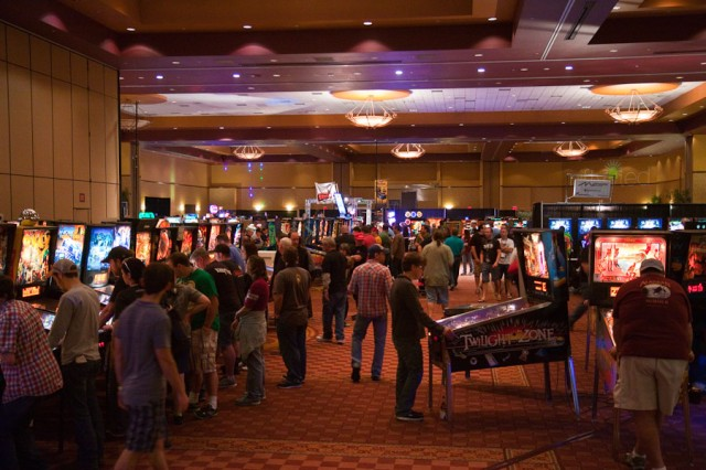 The Texas Pinball Festival was the largest pinball show I've been to.  Over 350 machines in a huge hall.