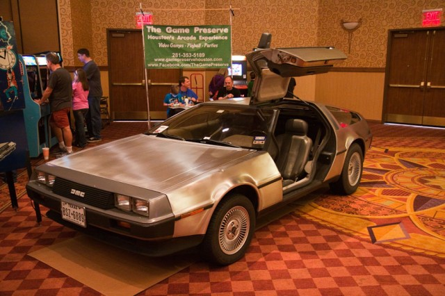 My favorite car.  It was next to a Back To the Future pinball Machine.