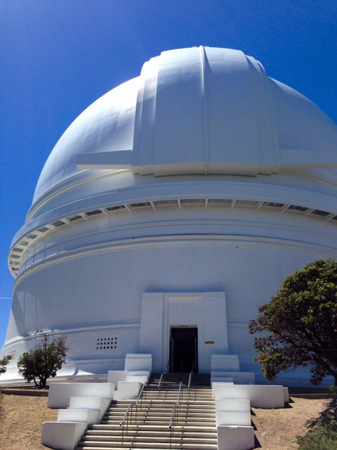 Observatory dome for Hale 200 inch telescope.