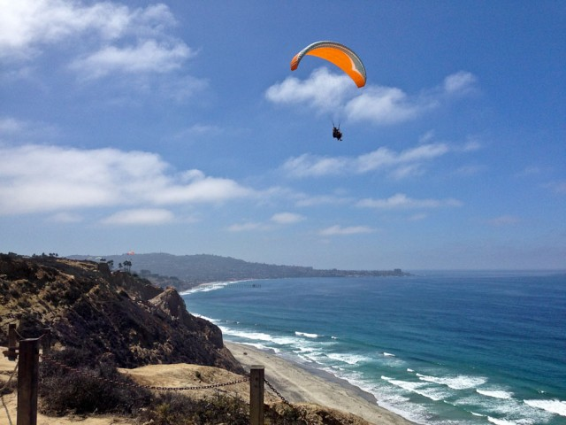 Looking south from the gliderport towards La Jolla, California.