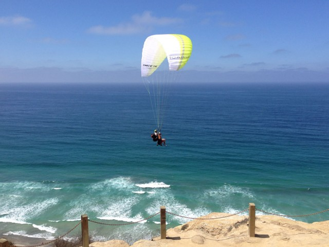 Some paragliders had two chairs.