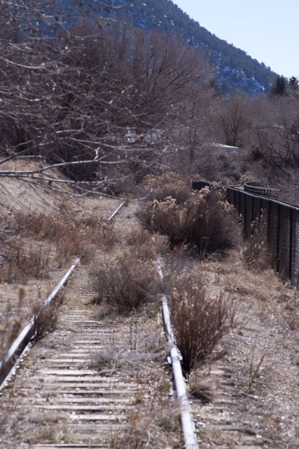 The old Denver and Rio Grande rail line to Aspen, Colorado.