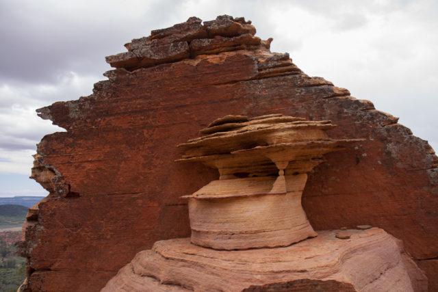 Sandstone in west Zion National Park